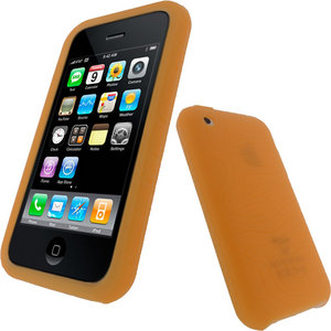 iGadgitz Orange Silicone Skin Case Cover Holder for Apple iPhone 3G &amp; 3GS + Screen Protector Preview